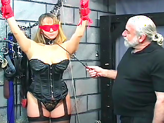 Alluring tied babe being impaled and humiliated