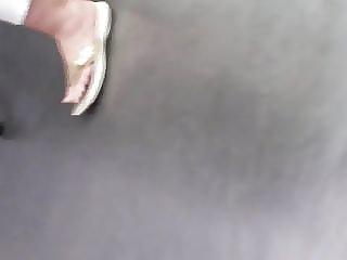 Mature candid feet