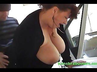 Granny Kim fucked on a sports car