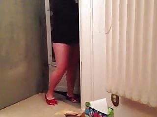 Flashing the pizza guy
